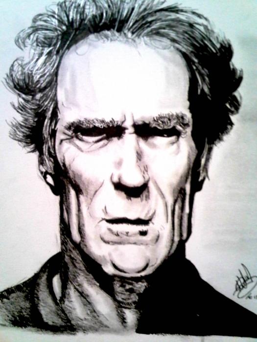 Clint Eastwood par art-bat